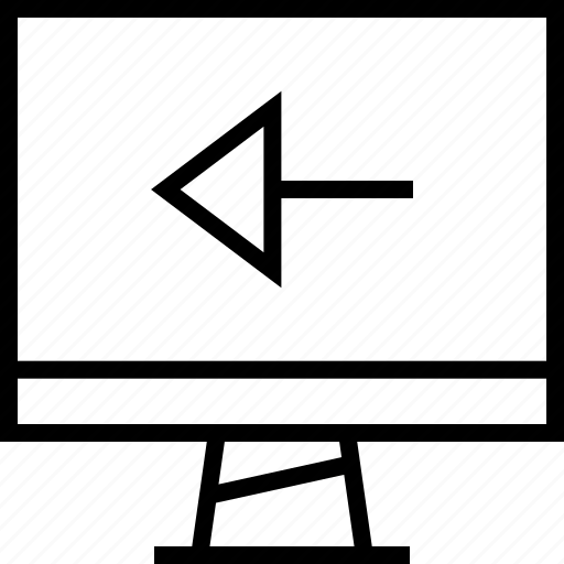 arrow, back, left icon