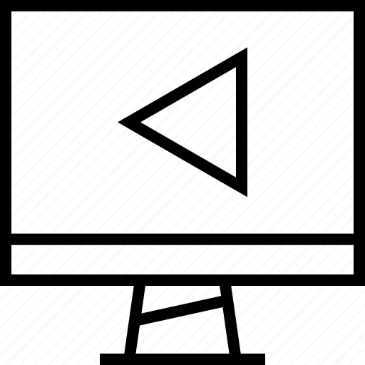back, left, point icon