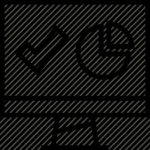 chart, check, mark icon