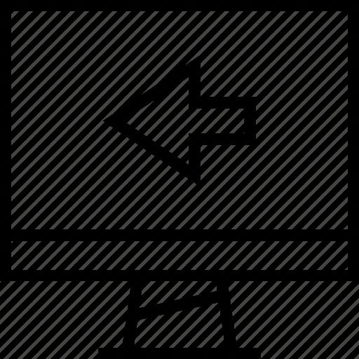 arrow, exti, left icon