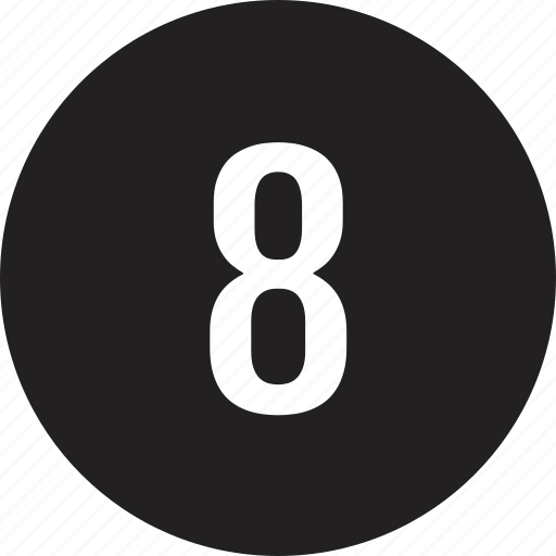 count, eight, interface, number icon