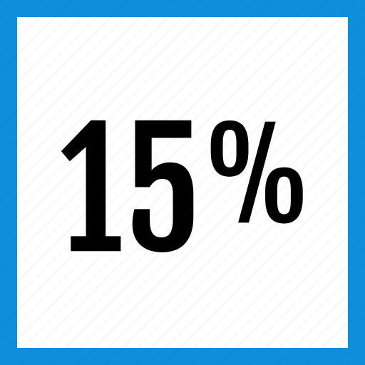 data, fifteen, graphic, info, percent icon