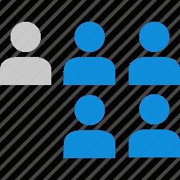 data, five, graphic, info, users icon