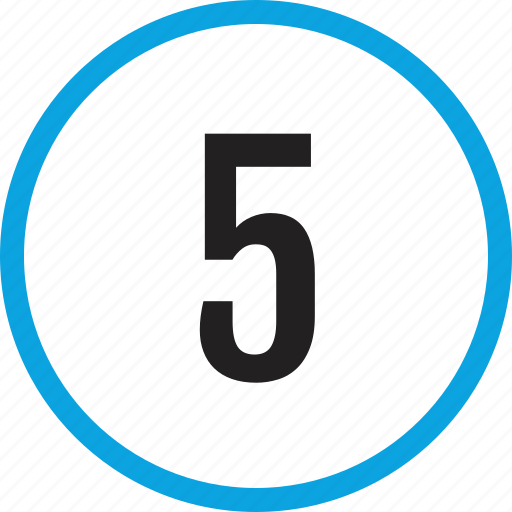 five, infographic, number, numbering, track, ui icon
