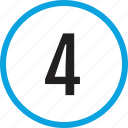 four, infographic, number, numbering, track, ui icon