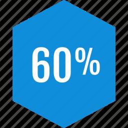data, graphic, info, percent, sixty icon