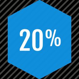 data, graphic, info, percent, twenty icon