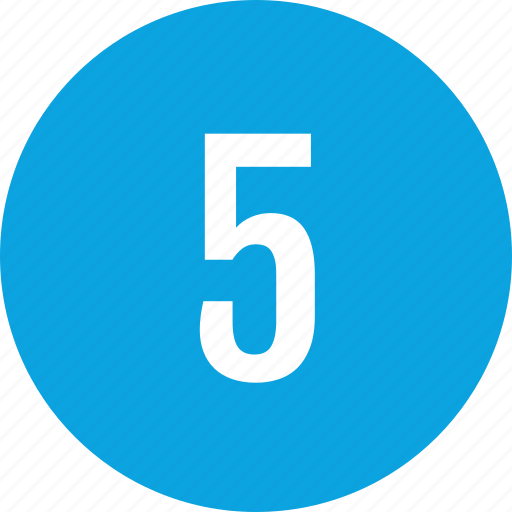 count, five, interface, number icon
