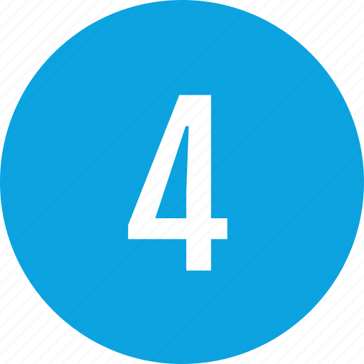 count, four, interface, number icon