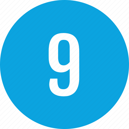 count, interface, nine, number icon