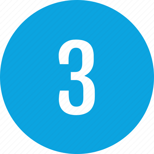Count, interface, number, three icon - Download on Iconfinder