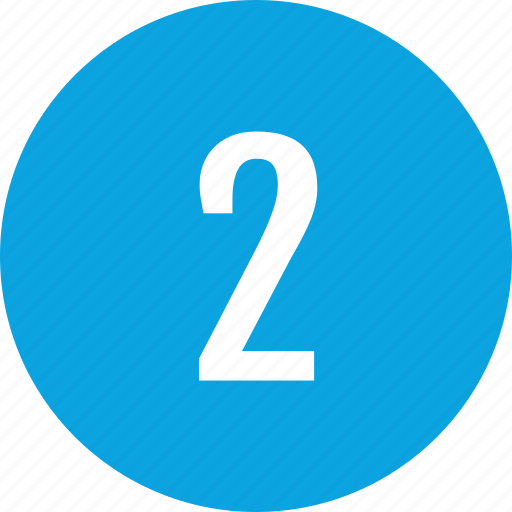 count, interface, number, two icon