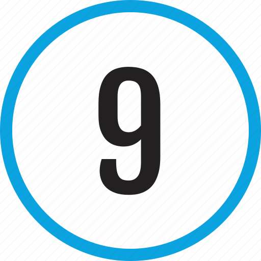 infographic, nine, number, numbering, track, ui icon