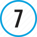 infographic, number, numbering, seven, track, ui icon