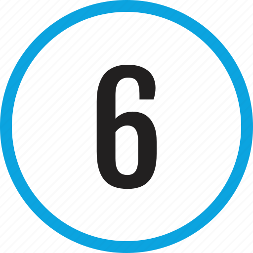 infographic, number, numbering, six, track, ui icon