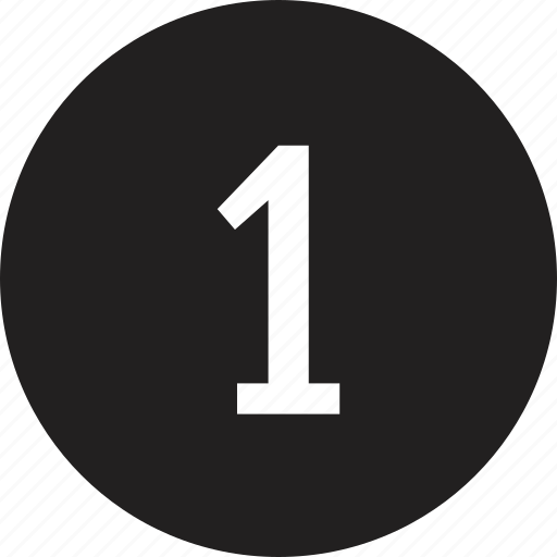count, interface, number, one icon