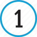 infographic, number, numbering, one, track, ui, 1 icon