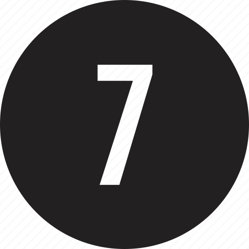count, interface, number, seven icon