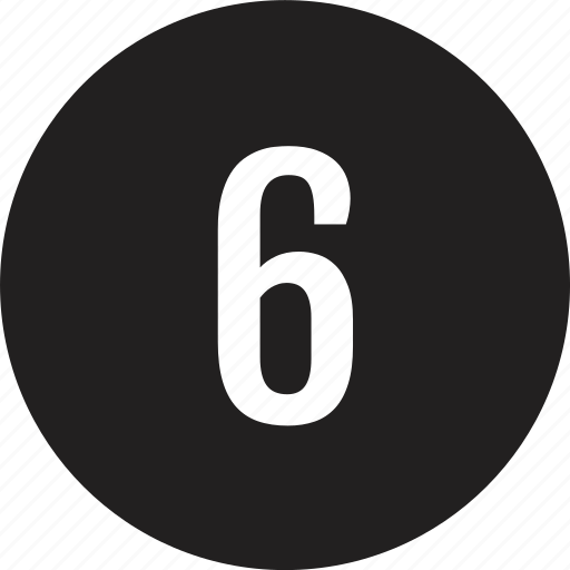 count, interface, number, six icon