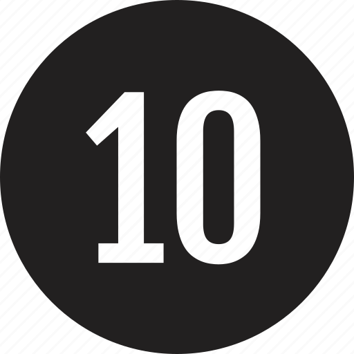 count, interface, number, ten icon