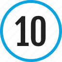 infographic, number, numbering, ten, track, ui icon