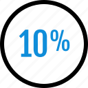 data, graphic, info, percent, ten icon