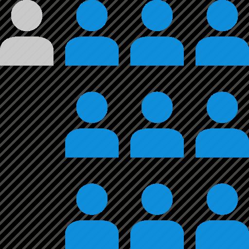 data, graphic, info, ten, users icon