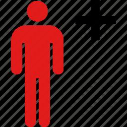 add, person, user icon