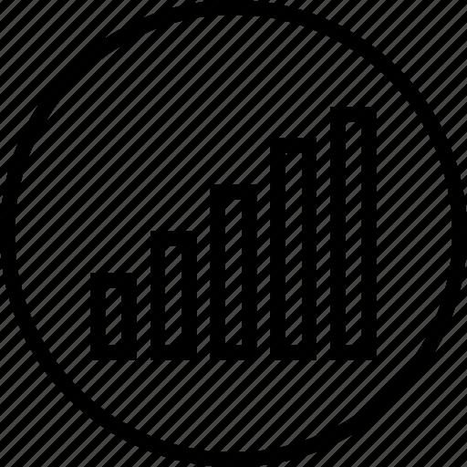 analytics, bars, data, graphics, info icon
