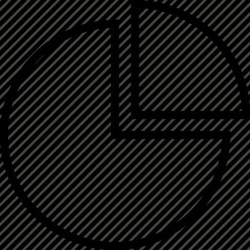 chart, data, graphics, info, pie, quarter icon