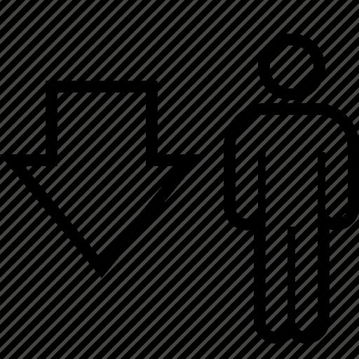 data, down, graphics, info icon