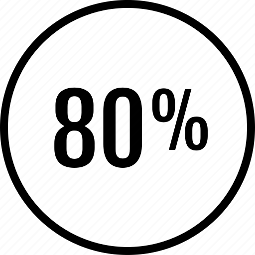 data, eighty, graphics, info, percent icon