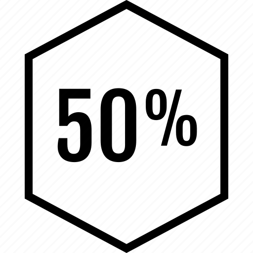 data, fifty, graphics, half, info, percent icon
