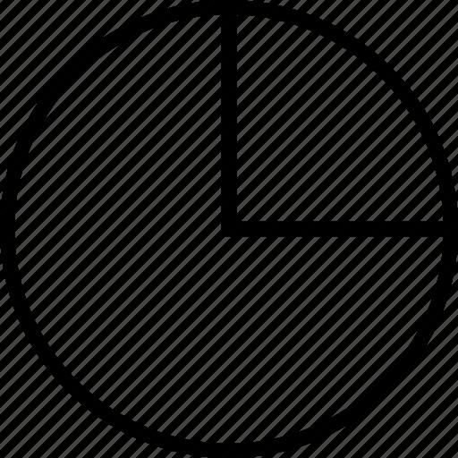 data, graphics, info, quarter icon