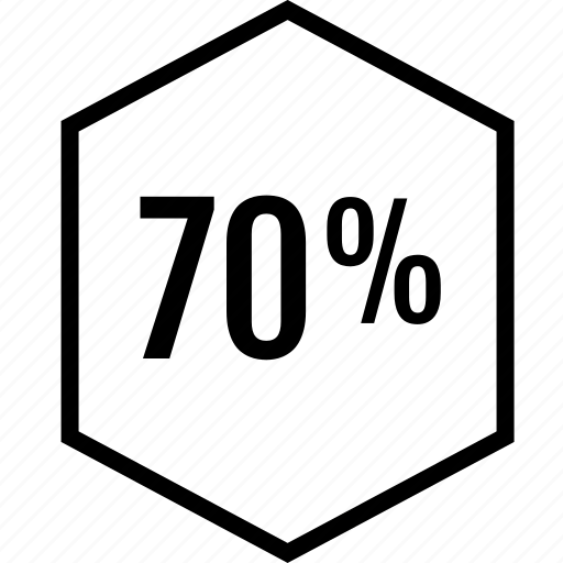 data, graphics, info, percent, seventy icon