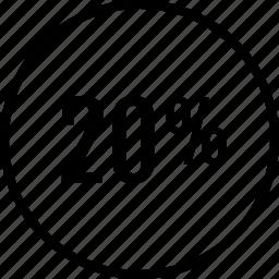 data, graphics, info, percent, twenty icon