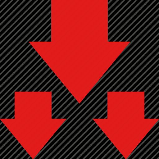 arrows, data, down, graphic, info icon