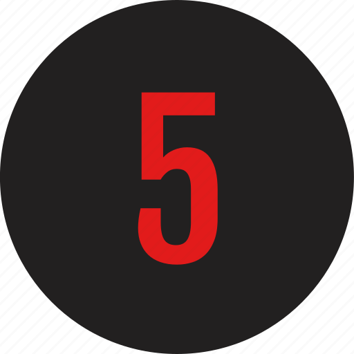 count, counting, five, number icon