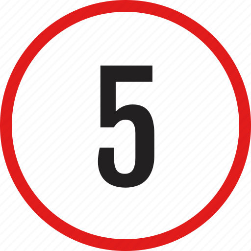data, five, infographic, interface, number icon
