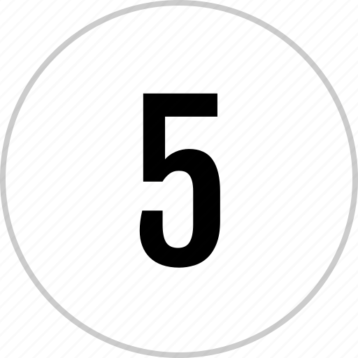 count, five, number, track icon