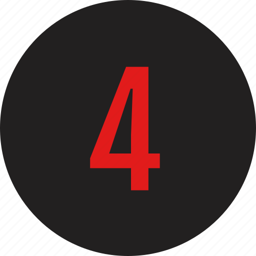 count, counting, four, number icon