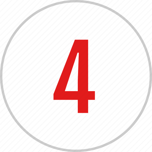 count, four, number, track icon