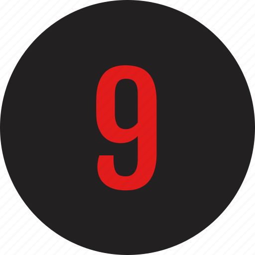 count, counting, nine, number icon
