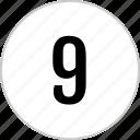 count, nine, number, track