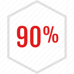 data, graphic, info, ninety, percent icon