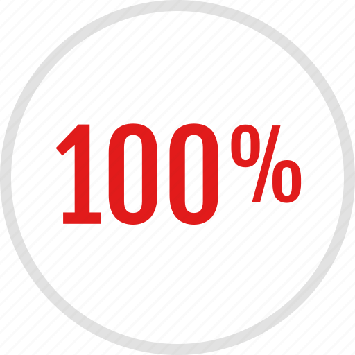 data, graphic, info, onehundred, percent icon