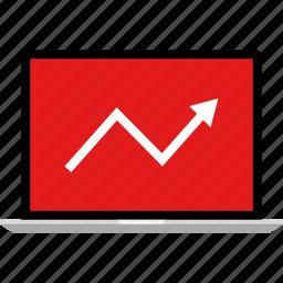 arrow, data, graphic, info, seo icon