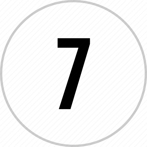 count, number, seven, track icon