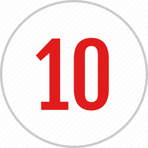 count, number, ten, track icon