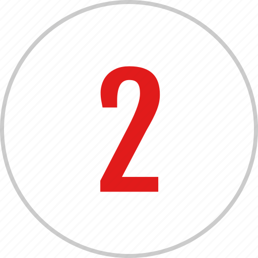count, number, track, two icon